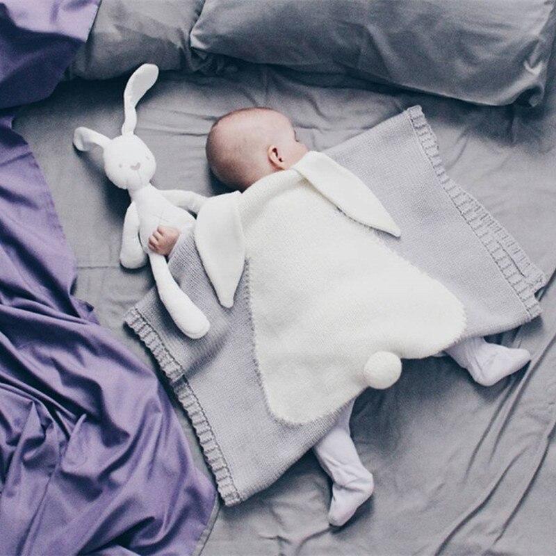 Baby Blankets Rabbit Ears Crochet Newborn Baby Blanket
