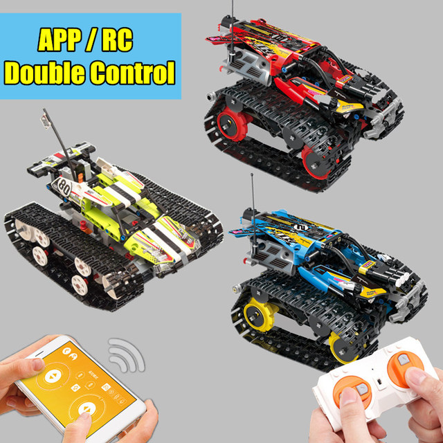 New Double Control Power up RC Tracked MOC fit legoings technic Motor Power Function Building Blocks Bricks Toy Model gift kid