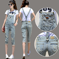 Top Quality New Fashion Short Denim Overalls Women Plus Size Bib Catsuit Jeans Woman Jumpsuit Suit Skinny Jeans Overalls JS-5533