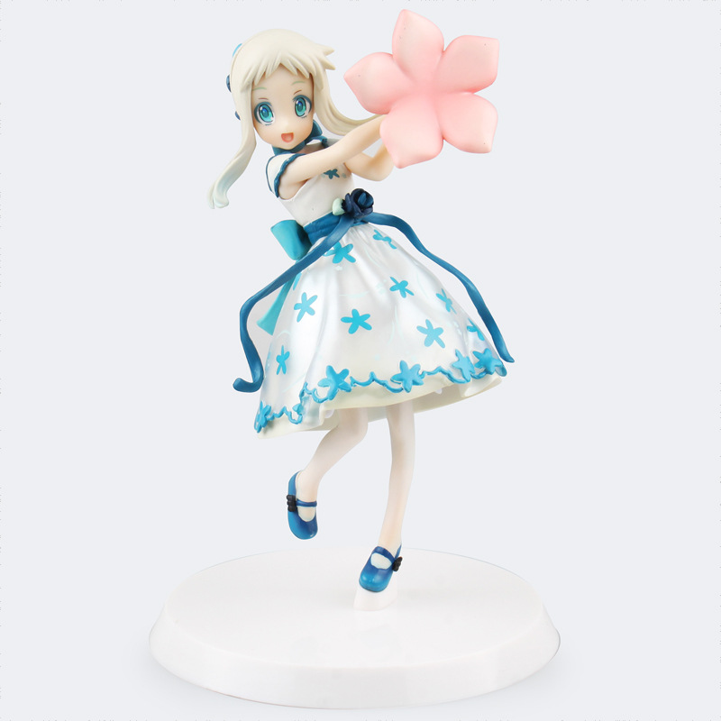 Anohana Menma Honma Meiko Maid Ver. PVC Action Figure Collectible Model Toy 18cm KT2855 anime prison school meiko shiraki sexy pvc figure collectible model toy 15cm 3 colors