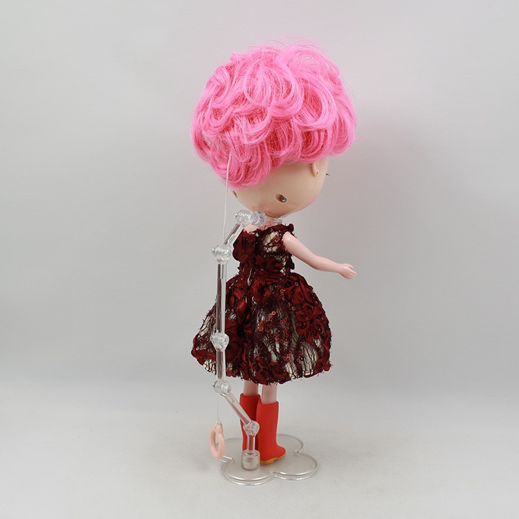 Neo Blythe Doll Pink Stand 14