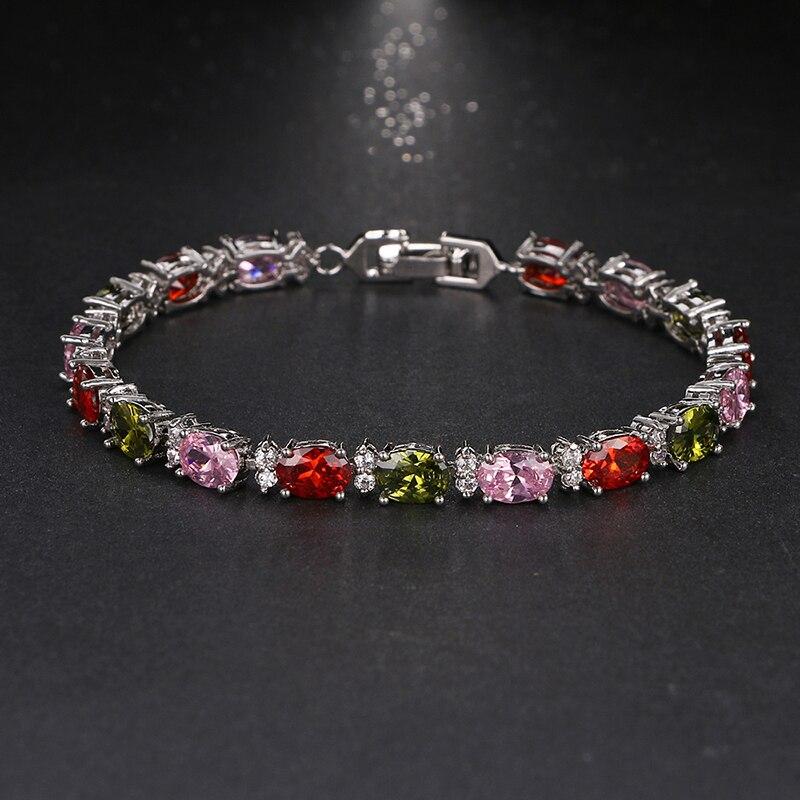 d54dfa40cd8b Pulseras de joyería de cristal de lujo de Color oro blanco de diseño único  de pulsera de ...