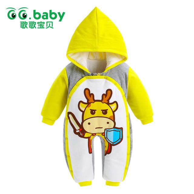 Bebê recém-nascido Menino Traje Macacão Animais Macacão de Bebê do Inverno Da Menina Do Natal Do Bebê Romper Infantil Roupas Ano Novo Pijamas Infantil