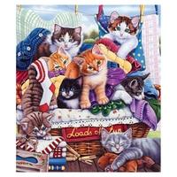 แมวรูปแบบครอบครัวภาพวาดเพชรDIY 5D