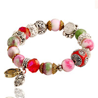 Hot New 2016 Fashion Bracelet for Women High Quality Natural Stone Bracelet Alloy Charms Bracelet Jewelry for Women's Bracelet