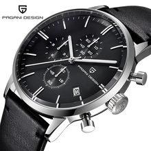 7ffa60e3aa0 PAGANI PROJETO Homens Relógios de Quartzo com Pulseira de Couro de Negócios  À Prova D  Água Esporte hodinky Relógio de Pulso Mas.