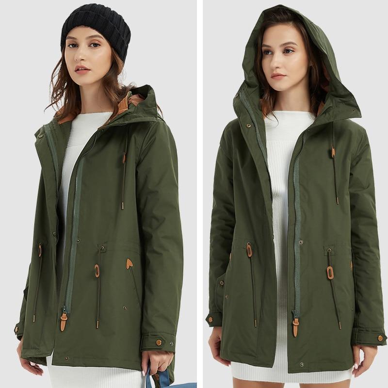 ZYNNEVA automne hiver manteau femmes 3 en 1 montagne Camping randonnée costume Ski coupe-vent vestes thermique imperméable vêtements GK1209 - 6