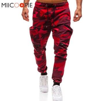 ce7d7c45 Мужские джоггеры 2019 новые красные камуфляжные мульти-штаны карго с карманами  мужские хлопковые шаровары Хип-хоп брюки уличная XXXL