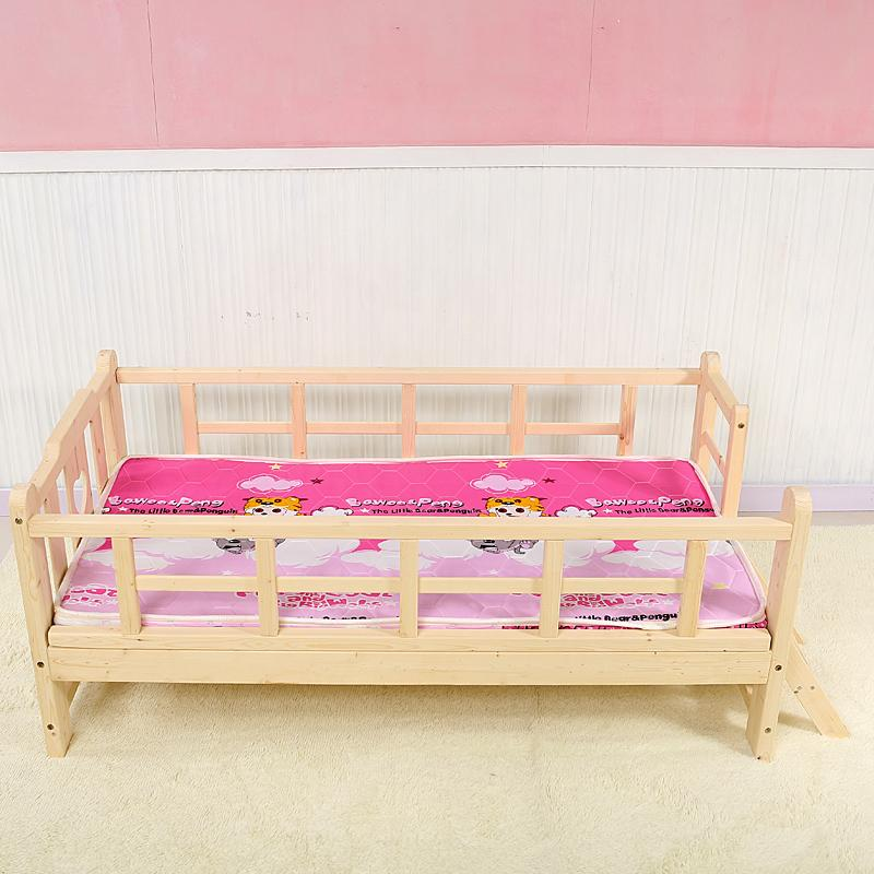 Childrens bed pine wood furniture preschool boys and girls for Boys and girls in bed