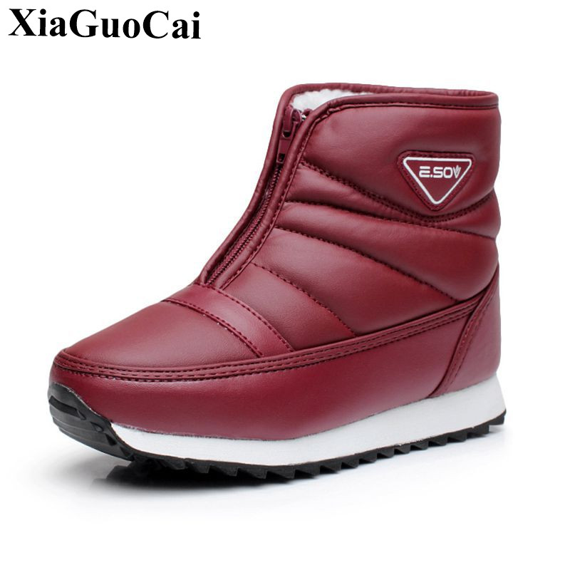 Winter New Snow Boots Women Shoes Warm Fleeces Waterproof Antiskid Outdoor Ankle Boots C ...
