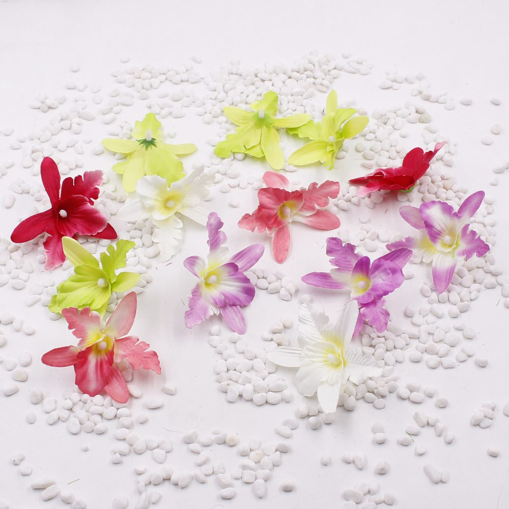 Online buy wholesale silk orchid heads from china silk orchid 50pcs 7cm fancy artificial silk orchid flower heads wedding flowers for party decoration dress hair accessories dhlflorist Gallery