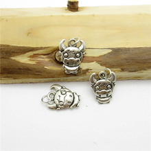 75PCS (15*12mm )Antique Silver Cow Charms pendant fit European bracelet made diy Pendants for jewelry making
