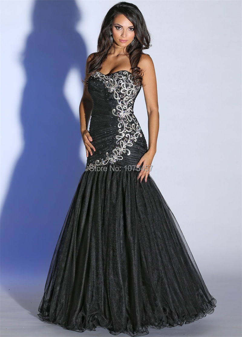 Black Prom Dresses 2015 Mermaid