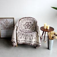 2018 New Bohemian Plaid Blankets Chair Covers Sofa Cover Piano Cover on Bed Carpet Jacquard Coverlet Home Decoration sofa towel