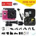 gopro hero 4 style Action Camera 4K F60 WiFi 15fps Sport camera like extreme Diving Helmet 30M Waterproof Cam+monopod+bag