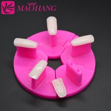 6Sets/Lot Plastic Nail Tips Display Practice Stand Holder False Nail Show Work Table Practice Manicure Nail Art Salon Tools 5pcs lot showing shelf false nail tips display stand holder set gold magnetic practice holders manicure nail art salon tools
