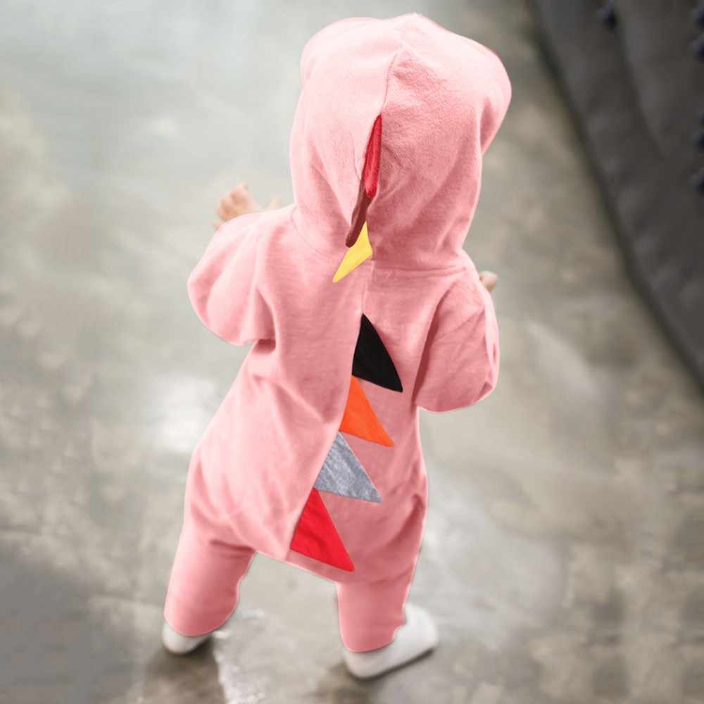 27cc988394d ... 3D animal Newborn Infant Baby Boy Girl Dinosaur Hooded Romper Jumpsuit  Outfits Clothes Kawaii Solid Clothing ...