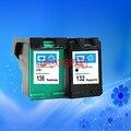 HP132 136 cartucho de tinta de alta qualidade compatível para HP 5420 5440 5442 5443 C3100 C3110 C3125 C3135 C3140 C3150 C3190 1507 1510