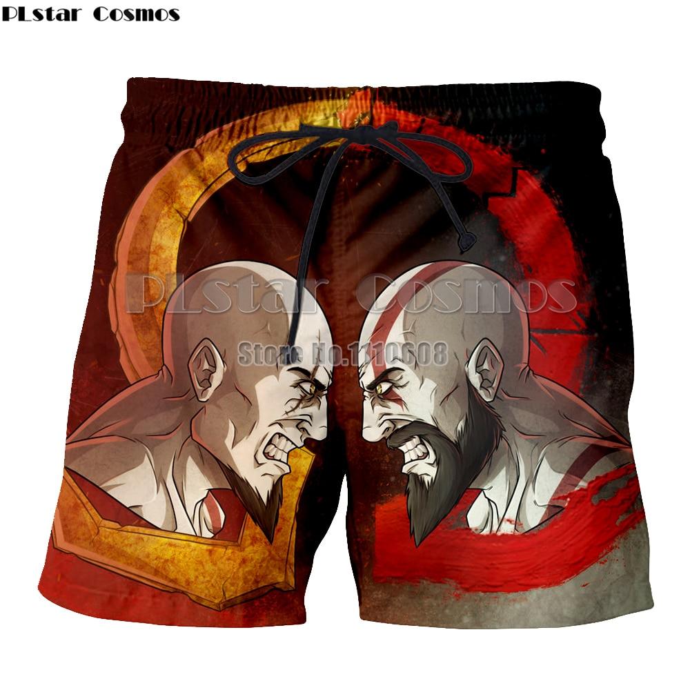 Board Shorts Cheap Price Plstar Cosmos Summer God Of War Fashion Mens & Womens Cartoon Print Pant 3d Print Short 3d Print Short