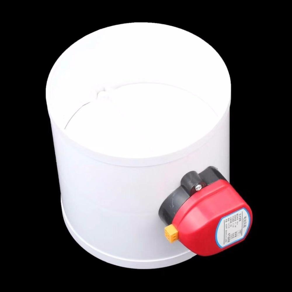 Plastic Air Damper Valve HVAC Electric Air Duct Motorized Damper For Ventilation Pipe Valve 220V 24V 12V