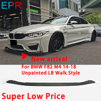 For BMW F82 M4 14 18 FRP Fiber Glass Unpainted LB Walk Style Front Bumper Bottom Lip