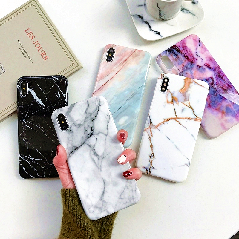 New Luxury Glossy Marble Veins Phone Case For iPhone X XS XR 6 6S 7 8 Plus For iPhone XS MAX Cases Fashion Dreamlike TPU Cover(China)