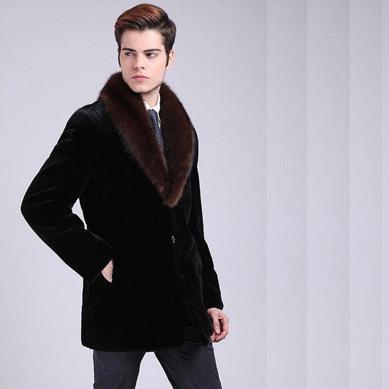 2018 New Mens Suede Coat Mens Full-blown Mens Water jacket Mens Fur Business Imitation Fur Coat Size S M L XL XXL-4XL 5XL