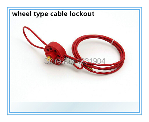 ФОТО free shipping adjustable cable lockout  for miltiple lockout application BD-L31 cable length 1.5m