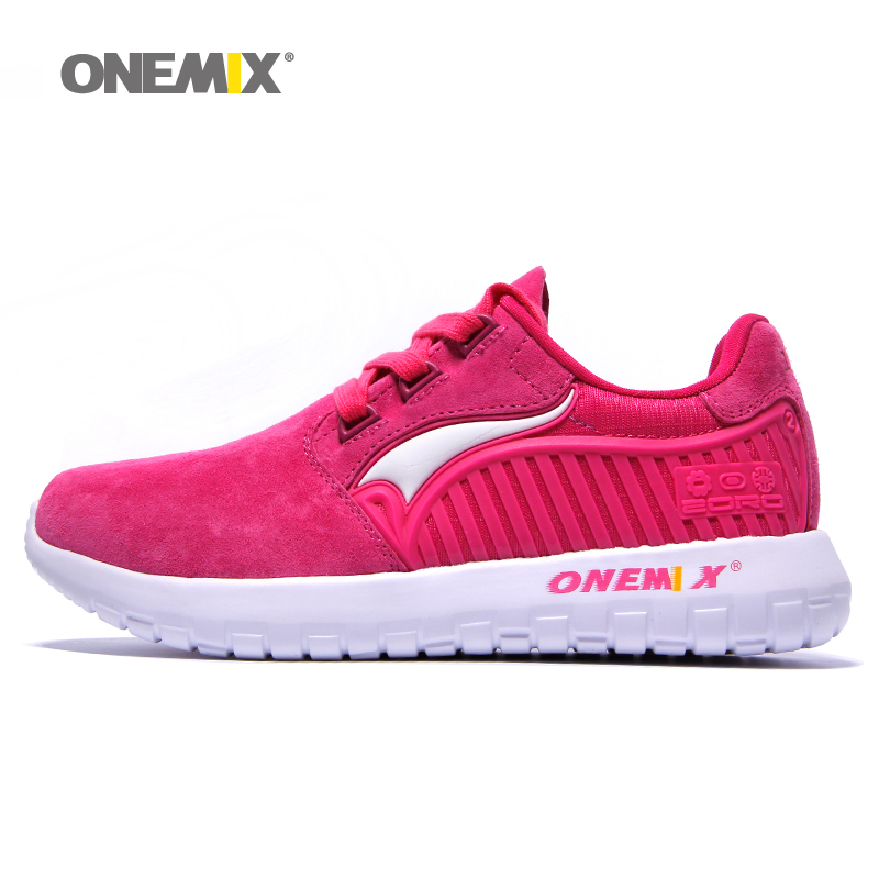 onemix women sport shoes pink outdoor walking sneakers for woman athletic trekking shoes fast delivery US4-US7