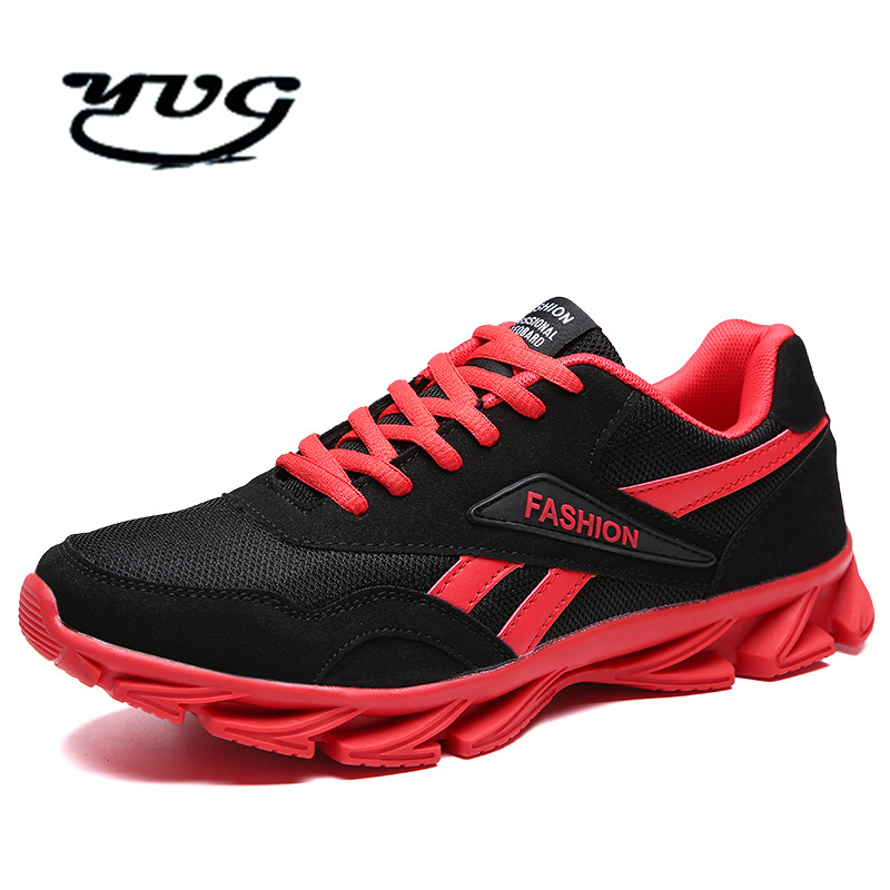 2017 Men Sneaker Running Shoes Lightweight Sneakers Breathable Mesh Sports Shoes Jogging Footwear Walking Athletics Shoes Black