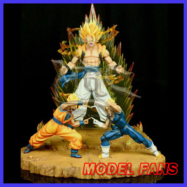 MODEL FANS INSTOCK Dragon Ball Z copy version MRC 39cm super saiyan goku and vegeta Gogeta GK resin statue for Collection model fans in stock dragon ball z mrc 30cm son gohan practice gk resin statue figure toy for collection