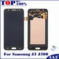 100% alta calidad lcd de repuesto para samsung galaxy j5 j500 pantalla lcd táctil del digitizador asamblea de oro blanco de color negro