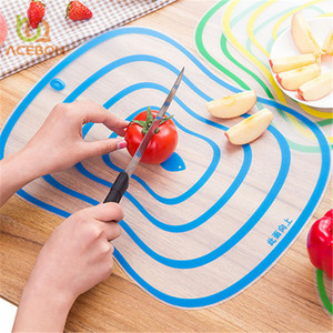 4pc set Plastic Cutting Board Non-slip Frosted Kitchen Cutting Board Vegetable Meat Tools Kitchen Accessories Chopping Board S,M(China)