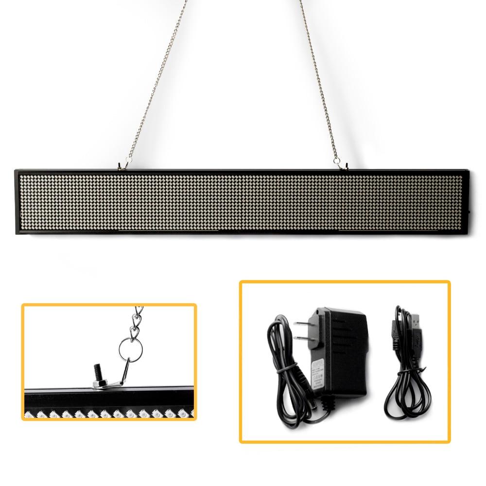 34 cm usb programável led sinal smd