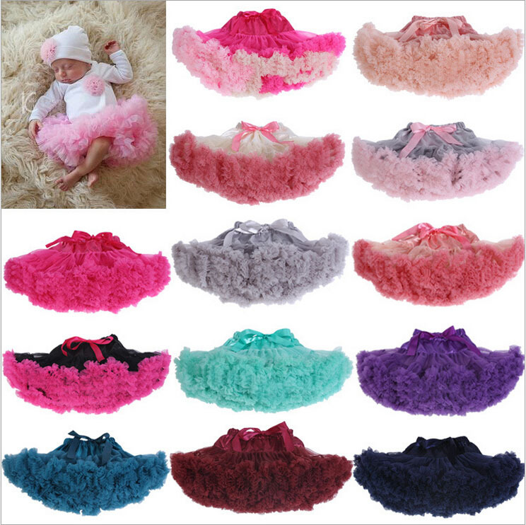 NEW 20 Colors Newborn Tutu Skirt Stunning Newborn Photo Prop Girl Tutu Skirt 3-24 months Baby Party Skirt Tutu Petticoat