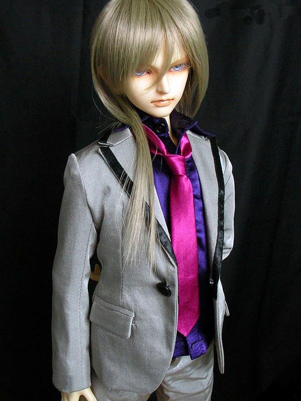 [wamami] 507# Silver Suit/Outfit For 1/4 MSD DOD DZ BJD Boy Dollfie lovely animal pajamas animal outfit for bjd doll 1 6 yosd super dollfie luts dod as dz doll clothes al4