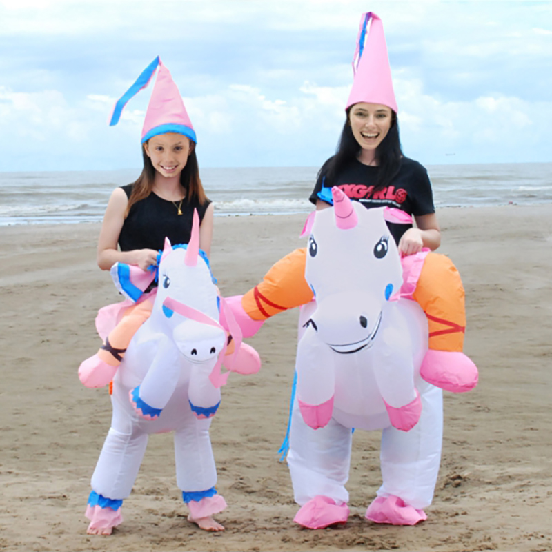 Unicorn Inflatable Costumes Carnaval Princess Outfit Purim Party Fancy Dress Halloween Costumes for Kids Child Women Men Adult