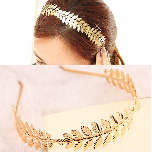 Women Punk Laurel Leaf Branch Leaves Headband Party Prom Hair Band Jewelry