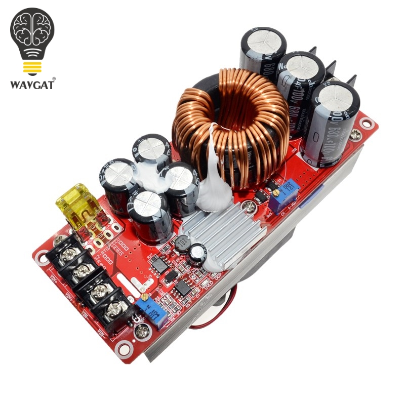 WAVGAT 1500W 30A DC-DC Boost Converter Step-up Power Supply Module In10~60V Out 12~90V New Electric Unit Modules ModuleWAVGAT 1500W 30A DC-DC Boost Converter Step-up Power Supply Module In10~60V Out 12~90V New Electric Unit Modules Module