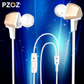 2016 Pzoz stereo headset stereo earphones Universal Smartphone ear wire with wheat for iphone 6s