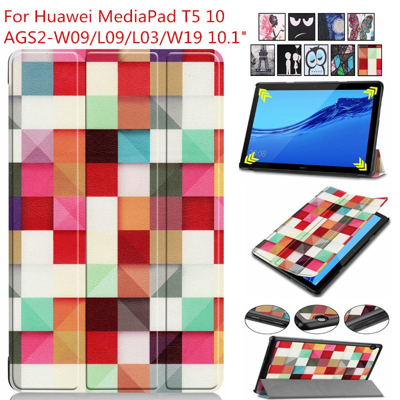 Ultra Slim PU Leather Case For Huawei Mediapad T5 AGS2-W09/L09/L03/W19 10.1