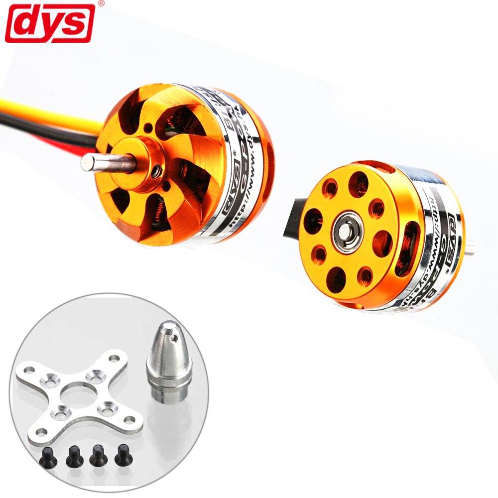 DYS D2822 Brushless Motor 1100KV 1450KV 1800KV 2600KV 2-3S For RC Aircraft Plane Multi-copter Brushless Outrunner Motor