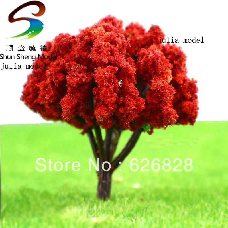 10pcスケールモデルツリーモデル素材ワイヤーブルームブルーム4.5cm