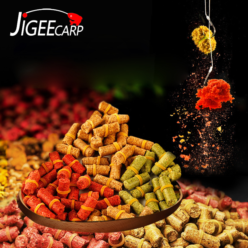 JIGEECARP 1Bag Carp Fishing Baits Grass Carp Baits Smell Carp Lure Formula Insects Rods Multi Flavour Chod Rig Baits
