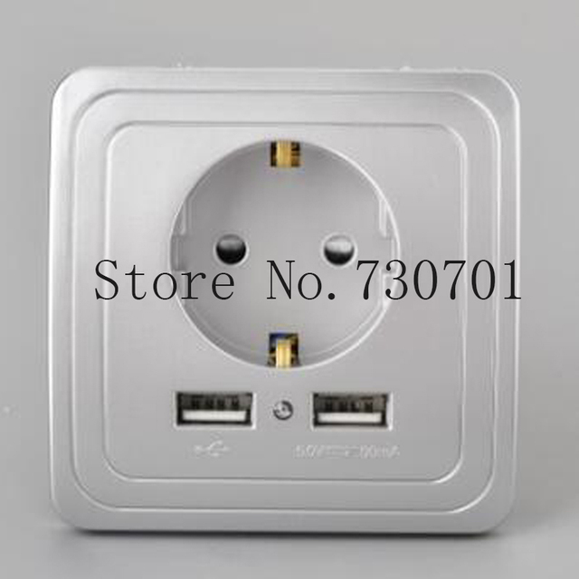 ship from with usb 5v 21a dual wall socket eu ports