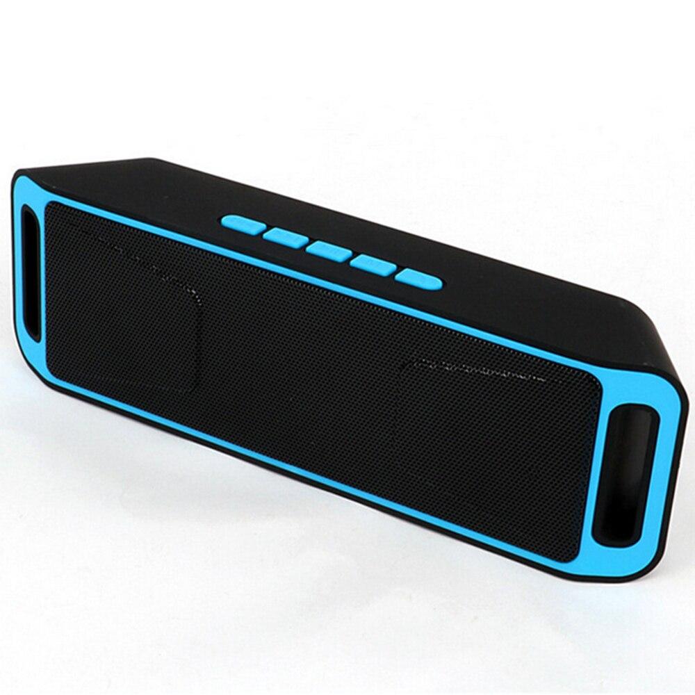 Tüketici Elektroniği'ten Taşınabilir Hoparlörler'de Taşınabilir bluetooth'lu hoparlör kablosuz mini hoparlör amplifikatör Stereo Subwoofer hoparlör TF USB FM radyo dahili mikrofon çift bas SP208 title=