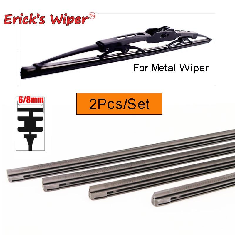 2PCS 6mm/8mm Car Auto Rubber Strip Refills For Metal Wiper Blades Windshield 14