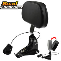 For Harley Touring Electra Road King Street Tour Glide CVO FLHR 2009 2017 2018 Motorcycle Adjustable Rider Backrest Mounting Kit