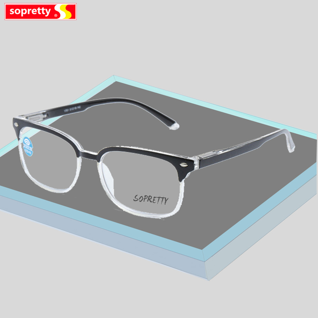 Multifocal Progressive Reading Glasses Men Anti Blue Light Eyeglasses Women Optical Prescription Presbyopia Diopter