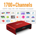 Android 6.0 Tv Box con 1 Año Europa IPTV Suscripción 1700 + europa Potente S912 Fuerte wifi Bluetooth Set Top Box IPTV Árabe